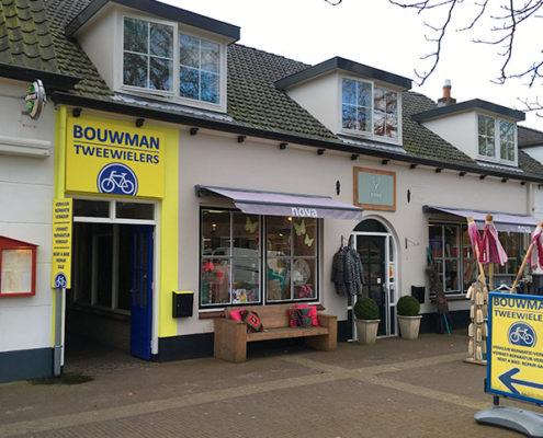 Fietswinkel verhuur Bouwman Tweewielers Burgh-Haamstede